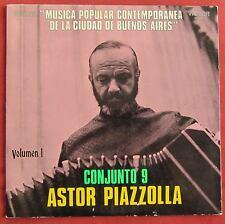 PIAZZOLLA LP ORIG ARG CONJUNTO 9 MUSICA POPULAR CONTEMPORANEA BUENOS AIRES