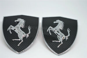 Ferrari 488 458 Italia California Carbon Fiber Fender Shield badge Emblem Kit