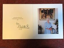 Royal Christmas Card Queen Elizabeth R Queen Mother Signed & autographed
