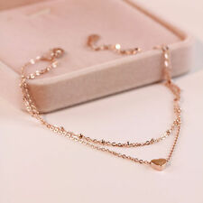 Bracelet Double Layer Chain Sexy Foot Anklet Sale One Pcs Gold Love Heart Ankle