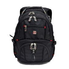 "Wenger Swissgear Black 15.6"" Laptop Backpack School Rucksack Notebook Travel Bag"