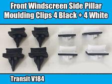 8x Clips Para Ford Transit V184 Delantero Parabrisas Moldura Lateral Pilar moldeo 4+4