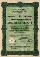 F. Schichau Elbing Elblag 1943 Bremerhaven Danzig Weser Werft 5000 RM -  Lit. B