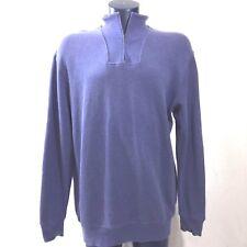 KIRKLAND Men/'s Blue 1//2 Half Zip Cotton Pullover Sweatshirt size M L XL