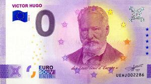 37 DESCARTES Victor Hugo, 2020, Anniversaire, Billet Euro Souvenir