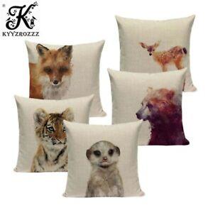 High Quality Bear lion Animal Cushions Cover Heart Home Decor Linen Pillow Cover