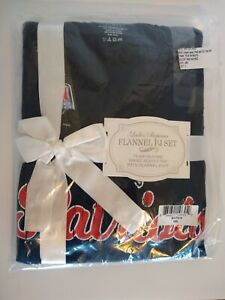 Ladies Flannel PJ New England Patriots Size Small Short Sleeve Shirt & Pants Set