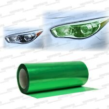 "Glossy Green Tint Smoke Vinyl Film Wrap Headlights Fog Lights 24"" x 12"" - Ford"