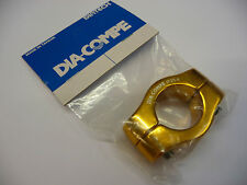 Genuine Dia Compe Mx1500 BMX Seat Post Clamp 2 Bolt 25.4mm Old Skool Gold