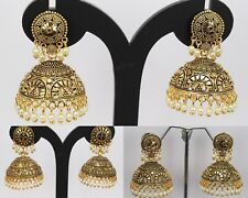 Indian Fashion Jewelry Wedding Dangling Jhumka Jumki Earring Women Traditional