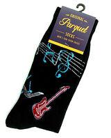 Men's Guitar Socks Novelty Crew Casual Cotton Musician Music Black Footwear