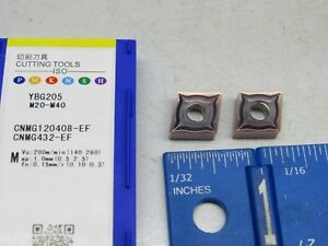 ZCC CNMG-432-EF (CNMG-120408-EF) CARBIDE INSERTS  (10 PCS) GRADE YBG205