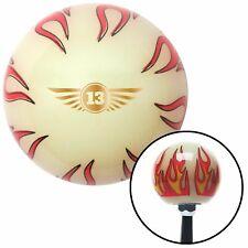 Wings 13 Ivory Flame Shift Knob fits b&m husrt chevy lokar geni