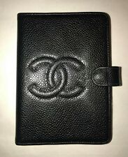 NEW CHANEL CAVIAR LEATHER AGENDA CC LOGO Authentic MADE IN FRANCE ADDRESS BOOK