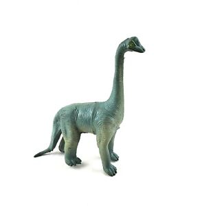 "Vintage Imperial 1985 Brachiosaurus Plastic Figure 8""x6"" Blue Green Long Neck"