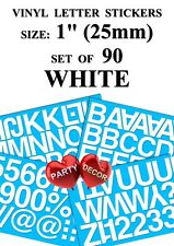 """50mm 2/"""" GLOSS  RED SELF ADHESIVE VINYL LETTERS// NUMBERS and MARKS Signs DIY"""