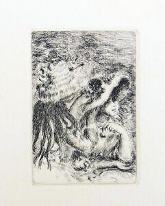 Pierre Auguste Renoir Le Chapeau Epingle Re-Strike Etching 12-1/2 x 9-1/2