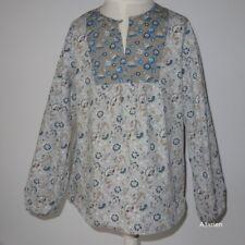 10 ans * tunique fleurie / blouse chemisier * bleu * mila blue vert baudet