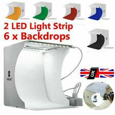 40cm Photo Box Studio Lighting Box Cube Photography Backdrop  Double LED Light