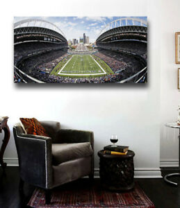 Seattle Seahawks Stadium Canvas Print 36 x 18 Century Link Field Panoramic