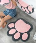 Non Slip Bath Mat Cat Paw Shap Cute Rug Kids Playroom Carpet Home Decor Gift