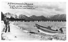 RPPC FISHERMAN'S PRAYER Fish Exaggeration LakeTahoe? Frashers Vintage Postcard