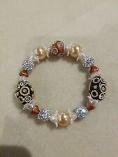 Beaded Stretch Bracelet Lilah Ann Beads Crystal Ball Glass Acrylic