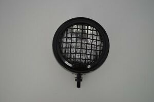 """5"""" Mini Auxiliary Motorcycle Headlight Driving Lamp Black Steel Mesh Front 12v"""