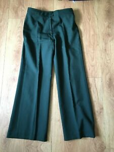 Vintage 70's WRVS Womens Royal Voluntary Service Uniform Flared Poly Trousers 16