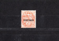 timbre France  type Blanc  3c orange  surchargé spécimen  NUM: 109-CI 3  *