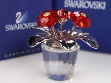 SWAROVSKI CRYSTAL A FLOWER, RED PRIMULA RETIRED 2006 MIB #296598
