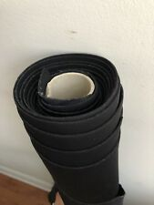 "Neoprene Black Scuba Knit Fabric Poly Spandex 56"" Wide Made In Italy 5.5 Yrds"