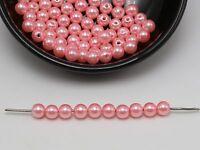 144 Pcs 6mm Acrylic Pearl NO HOLE Round Beads Imitation Pearl Color GRAY