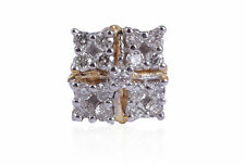 0.16 Cts Round Brilliant Cut Natural Diamonds Nose Stud In 750 Stamped 18K Gold