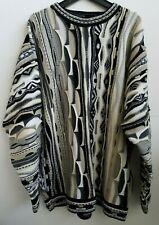 Delf Sweater 3D Textured Sweater Cosby Biggie Black White Gray Size XXL