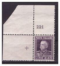 REGNO 1927  -  PARMEGGIANI   LIRE  2,65    NUOVO  ** NUMERO DI TAVOLA