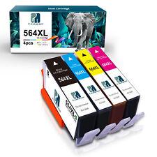 4PK New 564XL Ink Cartridge for HP Photosmart 6510 6520 7510 7520 5520 5510