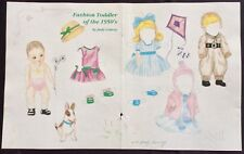 Fashion Toddler of the 1950's Paper Doll by Judy Convoy, Mag. Pd. 2009