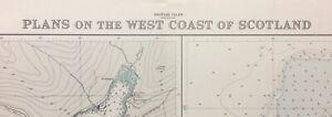 ADMIRALTY SEA CHART. LOCHS LONG, GOIL & ETIVE. No.3739. .SCOTLAND W. COAST. 1957