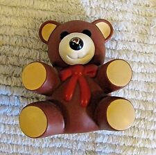 Vintage 1985 Squeaky Toy PVC Teddy Bear Ross Laboratories Similac Figure FREE SH
