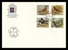 Iceland 1987 FDC, Birds II. Lot # 1.