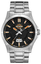Harley Davidson Mens Stainless Steel Bracelet Date 76B162 Watch - 28 off