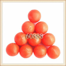 New .68 cal Reusable resilient soft Rubber Training Balls Paintballs  Orange