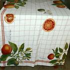 * Linens Tablecloth WILLIAMS & SONOMA Cotton Thick Blood Orange 70X90 USA SELLER