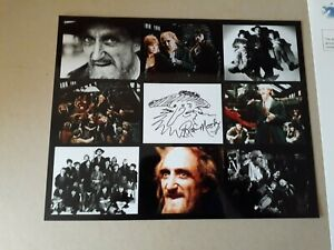 """ron moody signed 10""""x8"""" PHOTO with ORIGINAL SKETCH,  UACC RD C.O.A."""