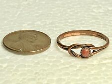 Size 8.25 with Copper-Colored Stone Markd Vintage Copper Wire Metal Fashion Ring