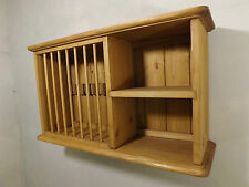 Plate rack -Pine wall plate rack unit made by our own carpenters, 8 plate model.