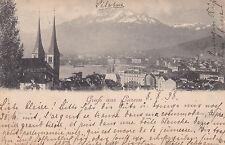 AK Luzern gel. 1898 Ortsansicht Kirche