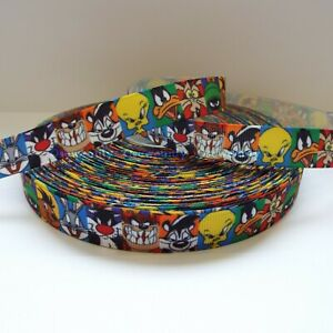 Per Metre - Looney Tunes 16mm - Printed Grosgrain Ribbon /Party Cake/Hair Bow