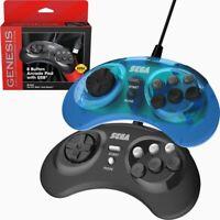 Retro-Bit SEGA Genesis 8-Button Arcade Pad USB Controller Gamepad for PC Mac